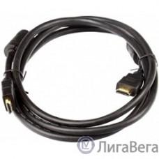 AOpen/Qust Кабель HDMI 19M/M+2 фильтра 1.4V+3D/Ethernet (ACG511D-1.8M) 1,8/2m, позолоченные контакты [6938510810427]