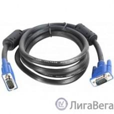 Aopen/Qust (ACG341AD-1.8M) Кабель монитор-SVGA card (15M-15M) 1,8м 2 фильтра [6938510840929]