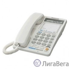 Panasonic KX-TS2368RUW (белый) {2 линии, конференц-связь, спикер., 30 номеров памяти, ЖКД, Flash, часы }