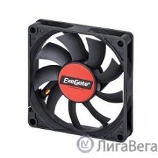 Exegate EX180973RUS Вентилятор ExeGate Mirage-S 80x80x15 подшипник скольжения, 2000 RPM, 23dB, 3pin