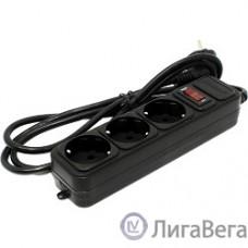 Exegate EX221176RUS Сетевой фильтр Exegate SP-3-1.8B (3 розетки, 1.8м, евровилка, черный)