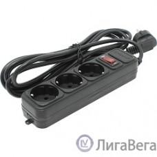 Exegate EX221179RUS Сетевой фильтр Exegate SP-3-3B (3 розетки, 3м, евровилка, черный)