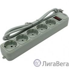 Exegate EX221173RUS Сетевой фильтр Exegate SP-5-1.8G (5 розеток, 1.8м, евровилка, серый)