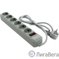 Exegate EX119388RUS Сетевой фильтр Exegate SP-6-1.8G (6 розеток, 1.8м, евровилка, серый)