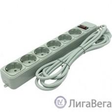 Exegate EX119392RUS Сетевой фильтр Exegate SP-6-3G (6 розеток, 3м, евровилка, серый)