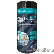 DEFENDER CLN 30 102 Влажные чистящие салфетки PRO SERIES в пласт. тубе, 100шт.