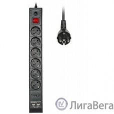 BURO Сетевой фильтр, 6 розеток, 1.8 метров, BURO BU-SP1.8_USB_2A-B, черный (коробка) {992310}