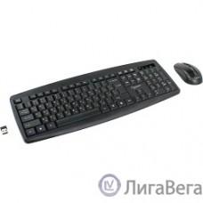 Gembird KBS-8000 черный USB { Комплект кл-ра+мышь беспров. 2.4ГГц/10м, 1600DPI,  мини-приемник}