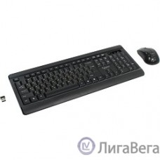 Gembird KBS-8001 черный USB {Комплект кл-ра+мышь беспров. 2.4ГГц/10м, 1000DPI,  мини-приемник}