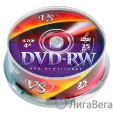 Диски VS DVD-RW 4,7 GB 4x CB/25