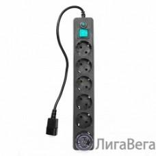 Gembird Сетевой фильтр Гарнизон EHB-0 0,5 м 6 розеток черный для UPS