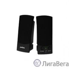 Perfeo колонки ″UNO″ 2.0, мощность 2х0,5 Вт (RMS), чёрн, USB  (PF-210)