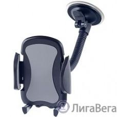 Perfeo PF_4515 Автодержатель для смартфона до 6,5″/ на стекло/ гибкая штанга/ черный+серый