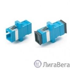 Hyperline FA-P11Z-SC/SC-N/BK-BL Оптический проходной адаптер SC-SC, SM, simplex, корпус пластиковый, синий, черные колпачки