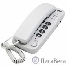 RITMIX RT-100 grey  {Телефон проводной Ritmix RT-100 серый [повторный набор, регулировка уровня громкости, световая индикац]}