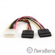 Cablexpert Кабель питания SATA CC-SATA-PSY-0.3M, 30см, molex 4pin/2x sata15pin, на 2 устр., пакет
