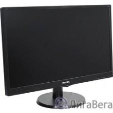 LCD PHILIPS 23.6″ 243V5QSBA (00/01) черный {VA, 1920x1080, 8ms, 250 cd/m2, 178°/178° 3000:1 (DCR 10M:1), D-Sub, DVI}