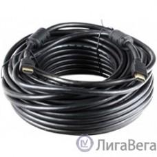 Aopen Кабель HDMI 19M/M+2 фильтра 1.4V+3D/Ethernet 20m (ACG511D-20M)