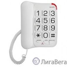 TEXET TX-201 белый { проводной, повторный набор номера, кнопка выключения микрофона, регулятор громкости звонка, белый}