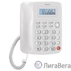 TEXET TX-250 белый {Автоответчик: нет. Дисплей: есть. Органайзер: часы. Память (количество номеров): нет. Память набранных номеров: 9. Однокнопочный набор (количество кнопок): 1.}