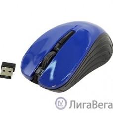 Oklick 545MW черный/синий оптическая (1600dpi) беспроводная USB (4but) [368630]
