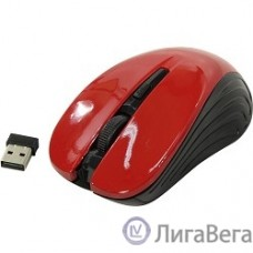 Oklick 545MW черный/красный оптическая (1600dpi) беспроводная USB (4but) [368631]