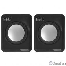 CBR CMS 90 Black, Акустическая система 2.0, питание USB, 2х3 Вт (6 Вт RMS), материал корпуса пластик, 3.5 мм линейный стереовход, регул. громк., длина кабеля 1 м, цвет чёрный