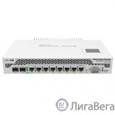 MikroTik CCR1009-7G-1C-1S+PC with Tilera Tile-Gx9 CPU (9-cores, 1Ghz per core), 2GB RAM, 7xGbit LAN, 1x Combo port (1xGbit LAN or SFP), 1x SFP+ cage, RouterOS L6, LCD panel, passive cooling desktop en