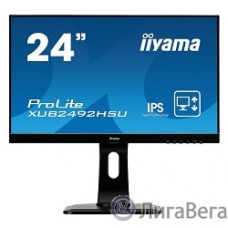 IIYAMA 23.8″ XUB2492HSU-B1(A) черный {IPS 1920х1080 5ms 16:9 250cd 178°/V178° 1000:1 5М:1 16,7M Color D-Sub HDMI DP}
