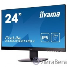 IIYAMA 23.8″ XU2492HSU-B1 (A)черный {IPS LED 1920x1080 5ms 16:9 250cd 178гр/178гр D-Sub HDMI DisplayPort}