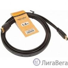 TV-COM Кабель цифровой (CG200F-1.5M) HDMI TV-COM 19M/M 1.4V  плоский 1.5m черный
