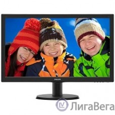LCD PHILIPS 23.6″ 243V5QHSBA (00/01) черный {VA LED 1920x1080 8ms 16:9 250cd 178гр/178гр D-Sub DVI HDMI}