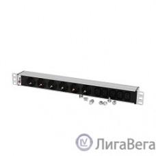 ЦМО Блок розеток Rem-10 без шнура с инд., 6 Schuko, 5 IEC 60320 C13, вход IEC 60320 C14, 10A, алюм., 19″ (R-10-6S-5C13-I-440-Z)