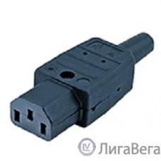 Hyperline CON-IEC320C13 Разъем IEC 60320 C13 220В 10A на кабель (плоские контакты внутри разъема), прямой