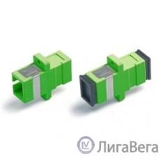 Hyperline FA-P11Z-SC/SC-N/BK-GN Оптический проходной адаптер SC-SC, SM, simplex, корпус пластиковый, зеленый, черные колпачки