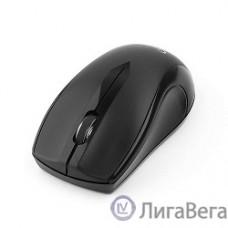 Gembird MUSW-320 Black USB {Мышь беспроводная, 2кнопоки+колесо-кнопка, 2.4ГГц, 1000 dpi}