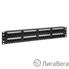 Exegate EX256753RUS Патч-панель UTP 19″ 48 port кат.5e Exegate  разъём KRONE&110 (dual IDC), 2U