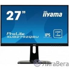 IIYAMA 27″ XUB2792QSU-B1 черный {IPS LED 2560x1440 5ms 16:9 350cd 178гр/178гр DVI HDMI D-Sub}