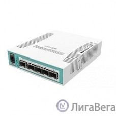 MikroTik CRS106-1C-5S Коммутатор Cloud Router Switch with QCA8511 400MHz CPU, 128MB RAM, 1x Combo port (Gigabit Ethernet or SFP), 5 x SFP