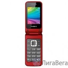 TEXET TM-204 мобильный телефон цвет красный (гранат)