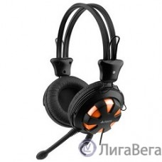 A4Tech HS-28-3 [567949] orange/Black {Гарнитура стерео} 1.8 м