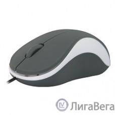Defender Accura MS-970 серый+белый, Проводная оптическая мышь, 3 кнопки,1000 dpi [52970]