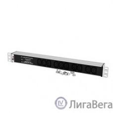 ЦМО Блок розеток Rem-10 без шнура с фил. и инд., 10 IEC 60320 C13, вход IEC 60320 C14, 10A, алюм., 19″ (R-10-10C13-FI-440-Z)