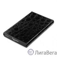 Gembird EE2-U3S-70L Внешний корпус 2.5″ , черный, USB 3.0, SATA, металл+кожзам, блистер