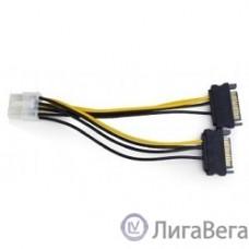 Cablexpert Разветвитель питания 2xSATA->PCI-Express 8pin, для подключения в/к PCI-Е (8pin) к б/п ATX (CC-PSU-83)