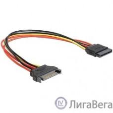 Cablexpert Удлинитель кабеля питания SATA 15pin(M)/15pin(F), 30см (CC-SATAMF-01)