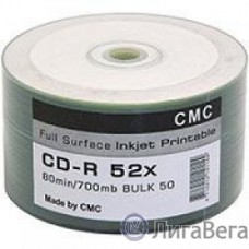 Диски CMC CD-R 80 52x Bulk/50 Full Ink Print