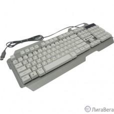 Dialog Клавиатура Gan-Kata KGK-25U SILVER USB, игровая, с трехцветной подсветкой клавиш, USB, серебристая