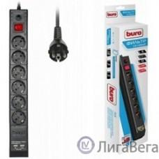 BURO Сетевой фильтр, 6 розеток, 3 метра, (BU-SP3_USB_2A-B), черный (коробка) {992313}