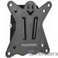 Kromax CASPER-100 black, Кр. стал. наст. для TV 10″-32″, max 25 кг, 0 ст св., от ст. 21 мм, max VESA 100x100 мм.